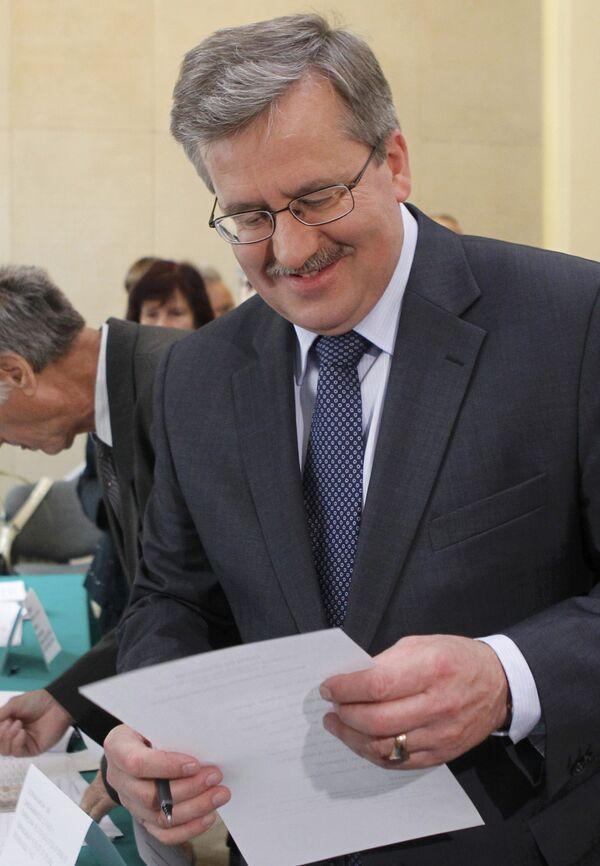 Бронислав Коморовский на выборах президента Польши