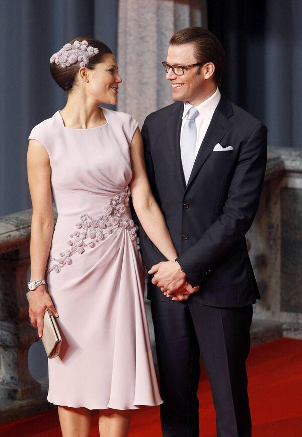 Кронпринцесса Швеции Виктория и ее супруг Даниэл Вестлинг