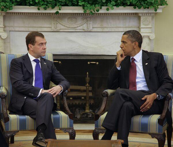 Встреча Дмитрия Медведева с Бараком Обамой