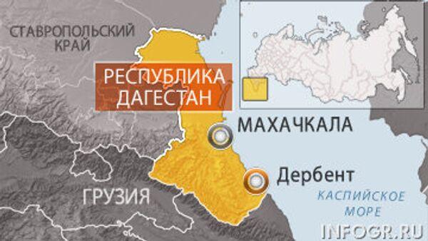 Дагестан. Дербент. Карта