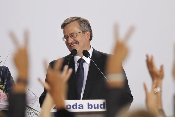 Выступление Бронислава Коморовского перед сторонниками