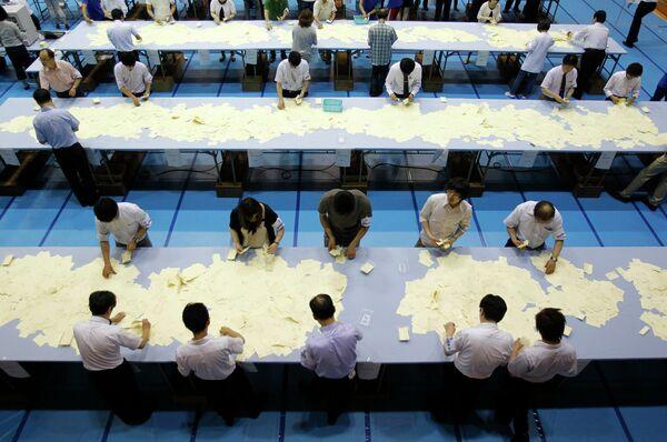 Подсчет голосов на выборах в верхнюю палату парламента Японии