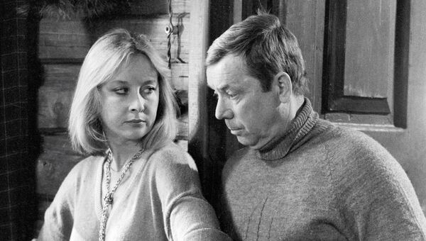 Удовиченко и Анофриев на съемках фильма Эстафета 3х100. Архивное фото