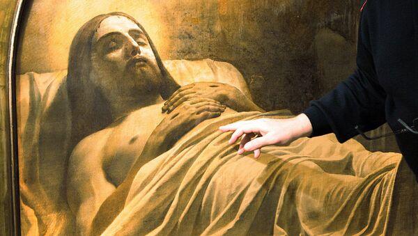 Фрагмент картины Карла Брюллова Христос во гробе