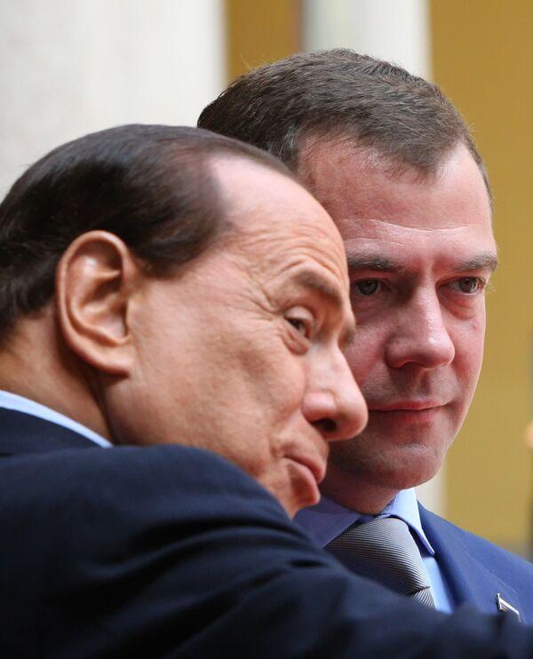 Президент РФ Дмитрий Медведев прибыл в Милан