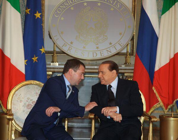 Встреча президента РФ Дмитрия Медведева с премьер-министром Италии