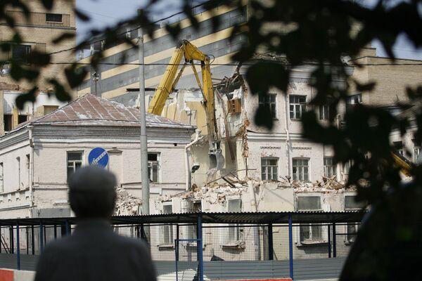 Снос усадьбы Алексеевых в центре Москвы