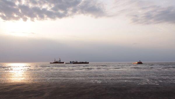 Корабли в море. Архивное фото