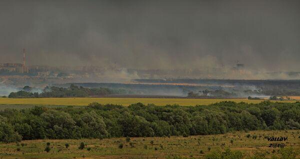 Воронеж окутан черным дымом из-за пожаров