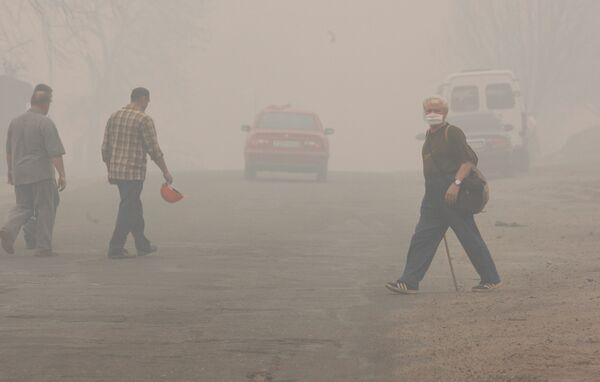 Ситуация с лесными пожарами в России