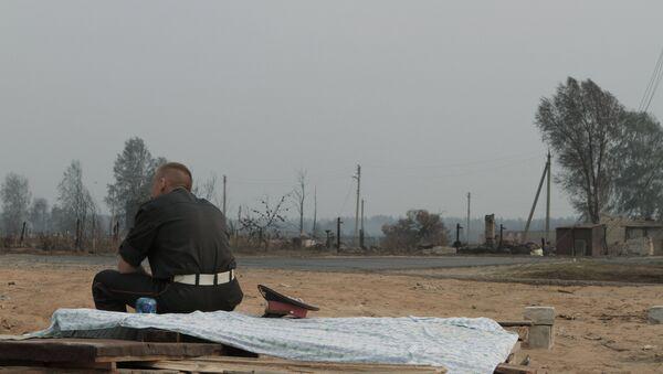 Последствия природных пожаров в селе Верхняя Верея Выксунского района Нижегородской области летом 2010 года