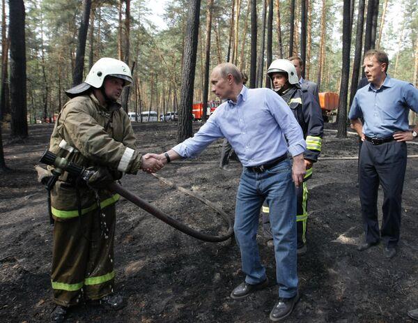 Премьер-министр РФ Владимир Путин прибыл в Воронеж