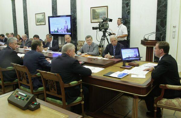Президент РФ Дмитрий Медведев провел совещание