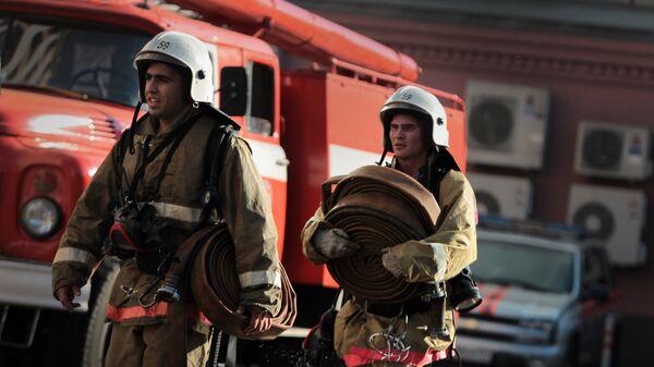 Пожар в центре Москвы. Архив