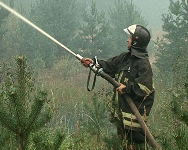Сотрудники МЧС круглосуточно дежурят в Егорьевском районе из-за пожаров