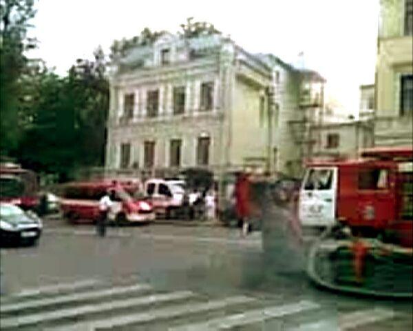 Пожар на территории храма Петра и Павла в Москве