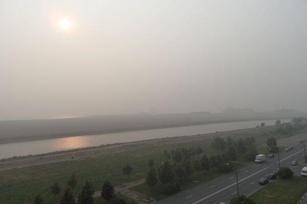 Дым в Санкт-Петербурге