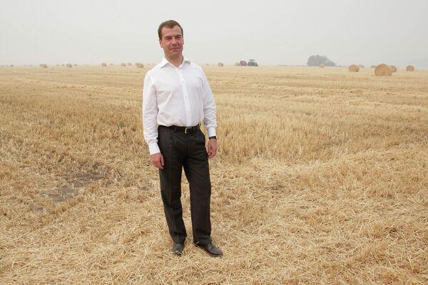 9 августа 2010 г. Президент РФ Д.Медведев посетил деревню Малый Шаплак