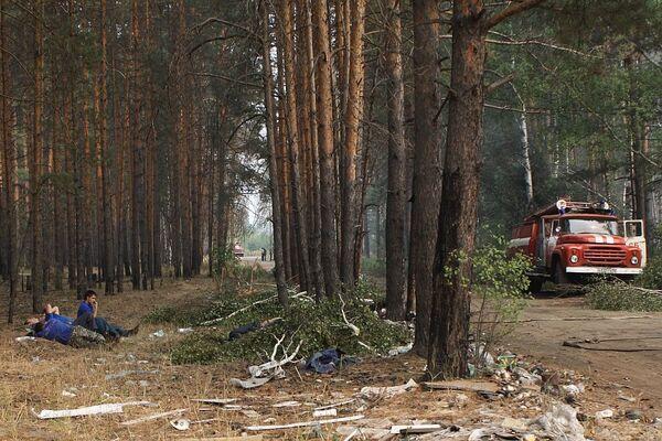 Работа добровольцев в Нижегородской области