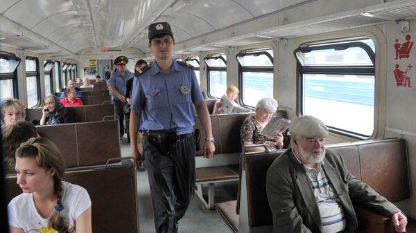 Сотрудники транспортной милиции. Архив