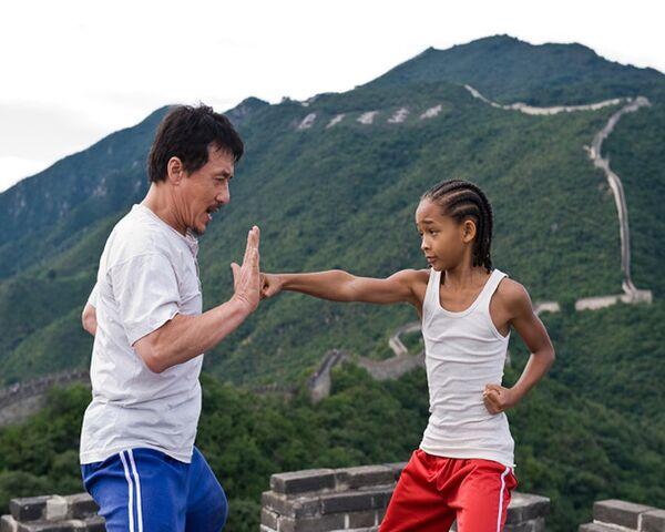Уроки  кунг-фу от Джеки Чана. Трейлер фильма Каратэ-пацан