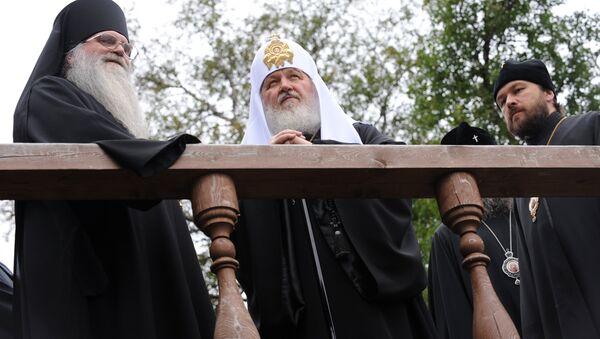 Патриарх Кирилл совершает поездку на Соловки. Архив