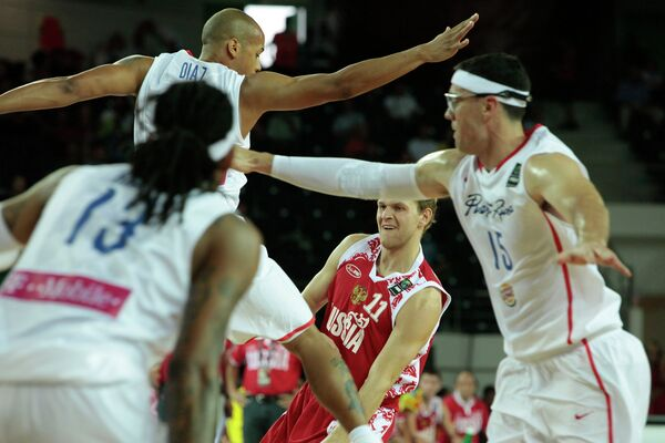 Баскетбол. ЧМ 2010. Мужчины. Матч Россия - Пуэрто-Рико