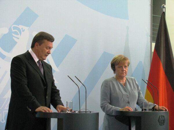 Визит Виктора Януковича в Германию
