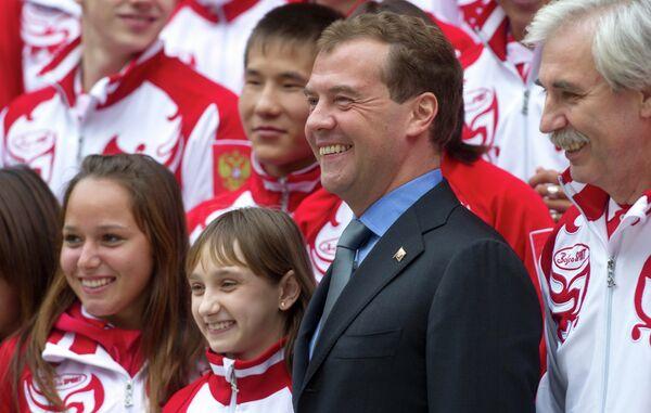 Дмитрий Медведев встретился с российскими участниками юношеских Олимпийских игр