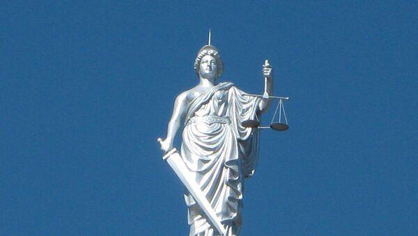 Статуя Фемиды, архивное фото