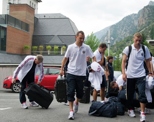 Приезд сборной России по футболу в Андорру-ла-Веллу