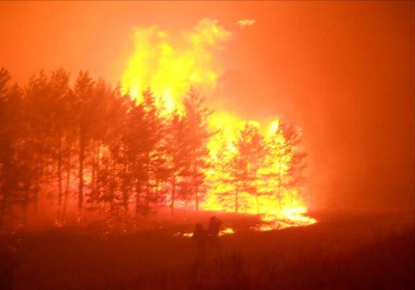 Пожар в Тольятти у трассы М5