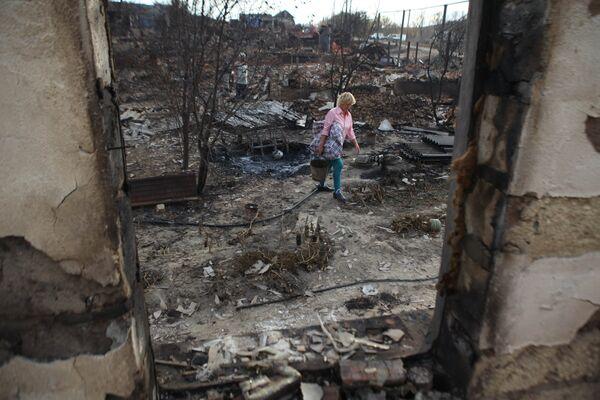 Сгоревшее село в Волгоградской области. Архив