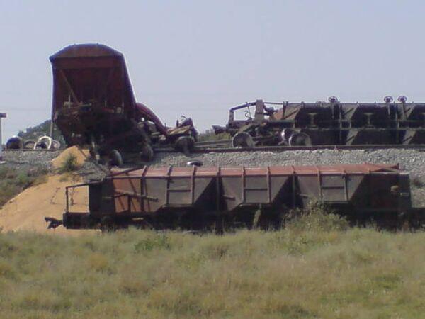Место подрыва поезда в Дагестане