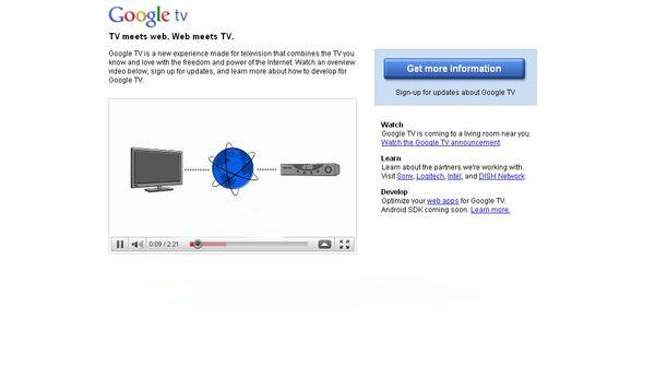 Сервис Google TV