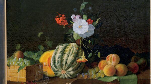 Хруцкий Иван Фомич. 1810-1885. Натюрморт. Фрукты и цветы