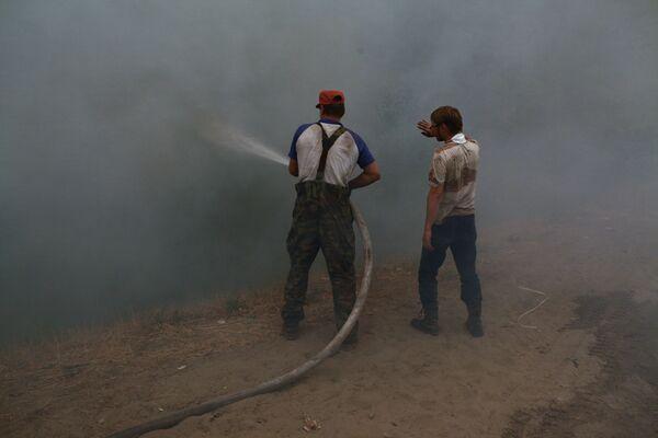 Тушение лесного пожара. Архив
