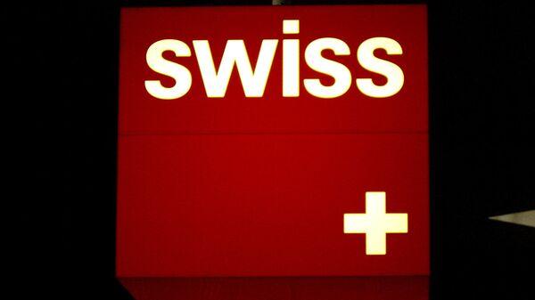 Логотип швейцарского национального авиаперевозчика SWISS. Архив