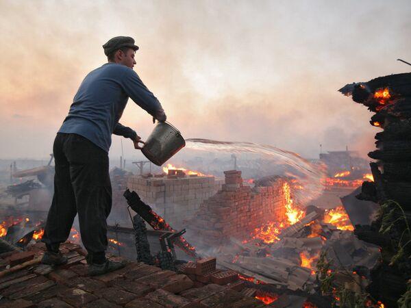 Пожары в Алтайском крае. Архив