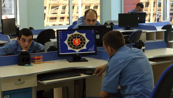 В полицейском участке в Тбилиси, архивное фото