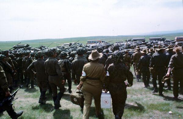 Военнослужащие Таджикистана. Архив