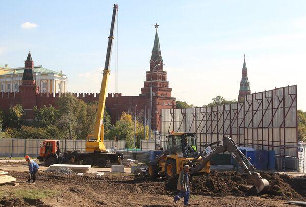 Начало строительства реставрационного комплекса музеев Московского Кремля
