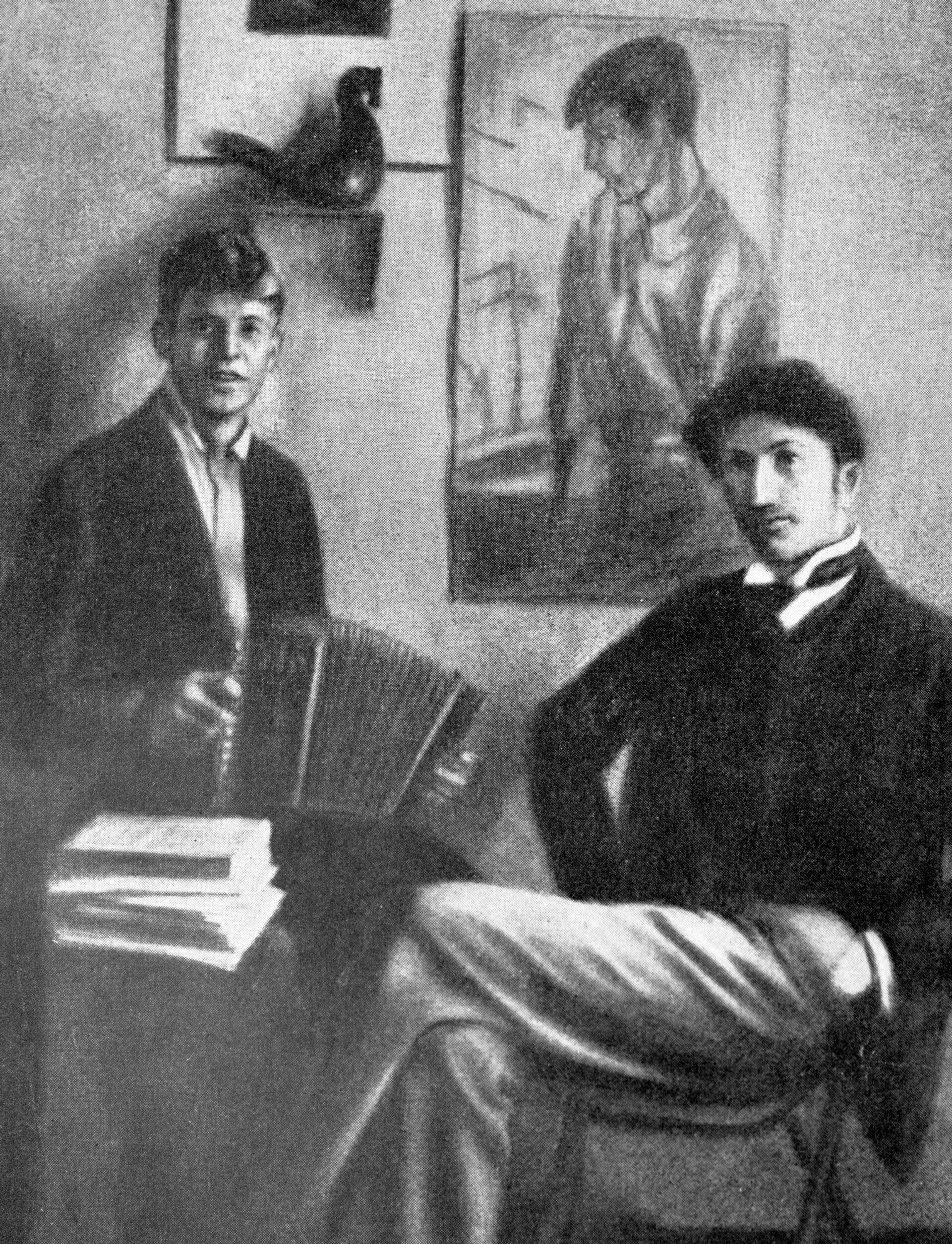 Поэты Сергей Есенин и Сергей Городецкий  - РИА Новости, 1920, 01.10.2021