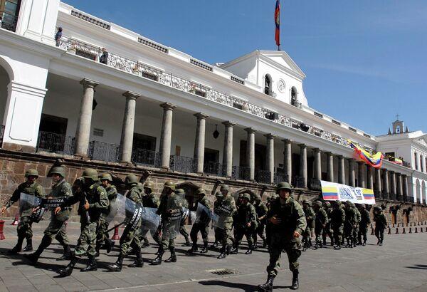 Эквадорские военные в Кито