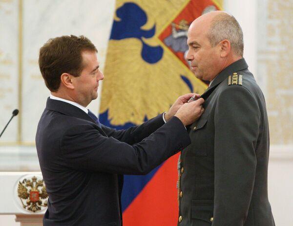 Президент РФ Дмитрий Медведев вручил в Кремле государственные награды за тушение природных пожаров