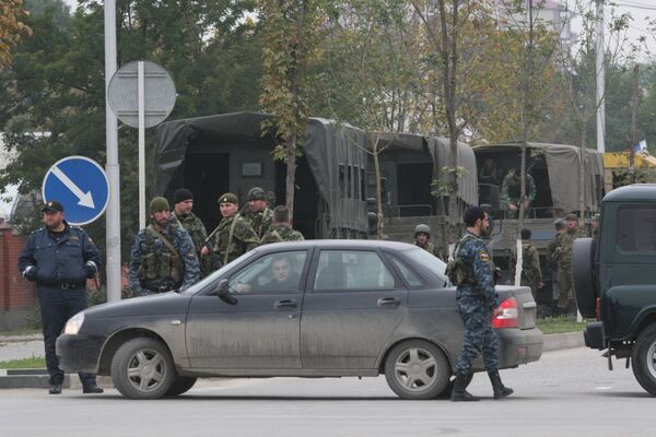 Спецоперация в здании парламента Чечни в Грозном