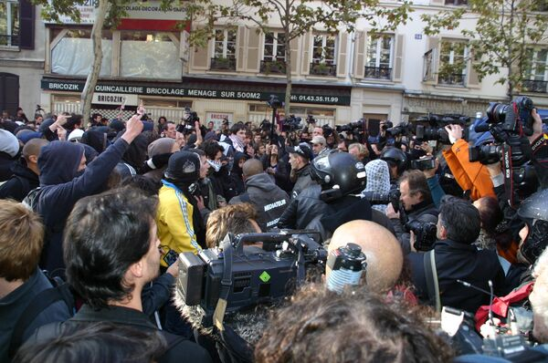 Демонстрация студентов в Париже