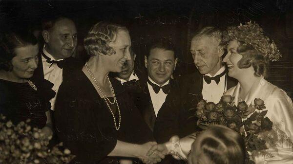 Иван Бунин на церемонии вручения Нобелевской премии, 1933 год