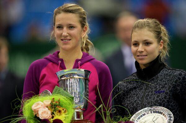 Виктория Азаренко и Мария Кириленко (слева направо)