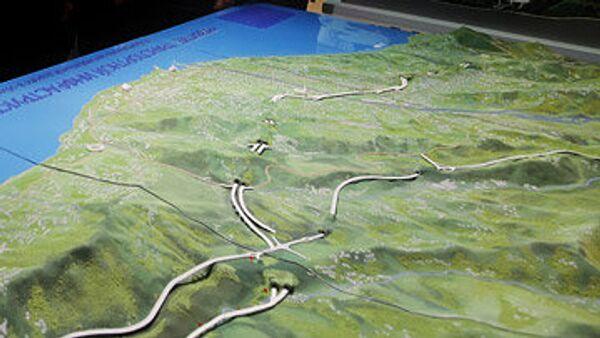 Макет газопровода Южный поток